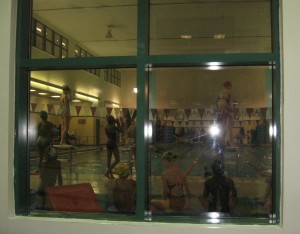 USS Swimming team practicing at LaGuardia